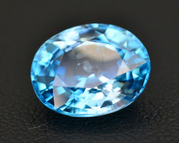 Vibrant Blue ~ 5.90 Ct Natural Zircon From Cambodia
