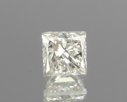 0.11 Cts Untreated Natural White Diamond Princess Cut Africa