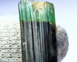 11.30 Cts Beautiful, Superb  Green Cap Tourmaline Crystal
