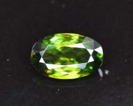 1.35 Carat AAA Grade Color Full Fire Oval Cut Sphene Titanite Gemstone From