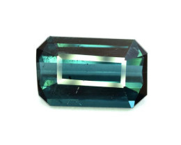 3.95 Carats Natural Emerald Cut Indicolite Tourmaline Gemstone From Afghani
