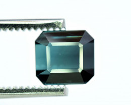 3.25 Carats Natural Emerald Cut Indicolite Tourmaline Gemstone From Afghani