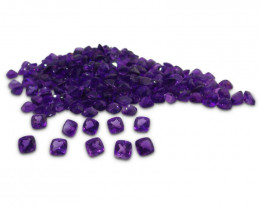 10 Stones - 9.80 ct Amethyst 6x6mm Cushion- $1 No Reserve Auction