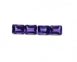 4 Stones - 5.80 ct Amethyst 8x6mm Octagon-$1 NR Auction
