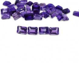 4 Stones - 5.80ct Amethyst 8x6mm Octagon - $1 NR Auction