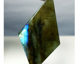 37.48 ct Natural Labradorite Sliced Fancy Cut  Gemstone