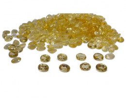 10 Stones - 11.5 ct Citrine 8x6mm Oval- $1 No Reserve Auction