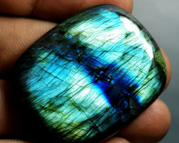 70.32 ct Natural Labradorite Octagon Cabochon  Gemstone