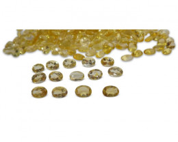 20 Stones - 13 ct Citrine 7x5mm Oval-$1 No Reserve Auction