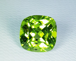 2.91 ct  Top Quality Gem Cushion Cut Top Luster Natural Peridot
