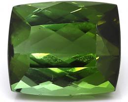 9.00 Carat Cushion Cut Tourmaline: Rich Darkish Green