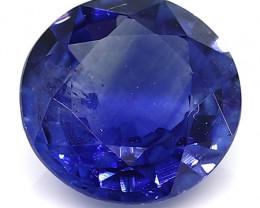 0.77 Carat Round Blue Sapphire: Royal Blue