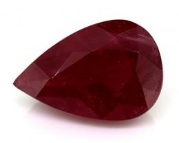1.35 Carat Pear Shape Ruby: Rich Red