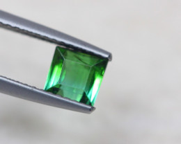 0.89ct Natural Green Tourmaline Square Cut Lot P231