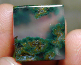 26.25 CT UNTREATED Beautiful Indonesian Moss Agate Picture