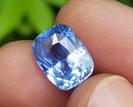 NO HEAT 6.09 CTS CERTIFIED NATURAL STUNNING CORNFLOWER BLUE SAPPHIRE SRI LA