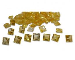 7 Stones - 10.5 ct Citrine 7mm Square-$1 No Reserve Auction