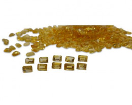 23 Stones - 14.95 ct Citrine 6x4mm Octagon- $1 No Reserve Auction