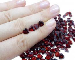 4 Stones - 3.6 ct Almandine Garnet 6mm Trillion Concave
