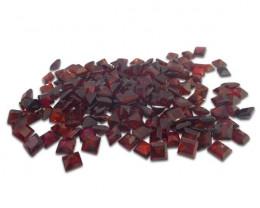12 Stones - 10.2 ct Almandine Garnet 5mm Square-$1 No Reserve Auction