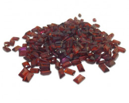 27 Stones - 10 ct Almandine Garnet 5x3mm Baguette - $1 No Reserve Auction
