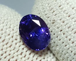 NO HEAT 1.65 CTS CERTIFIED NATURAL STUNNING VIOLET BLUE SAPPHIRE SRI LANKA