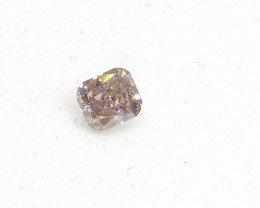 Certified 0.35ct Fancy Light Pink Diamond , 100% Natural Untreated