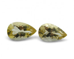 2 Stones - 1.46 ct Heliodor 8x5mm Pear