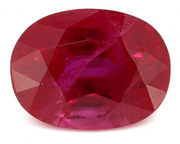 1.07 Carat Oval Ruby: Deep Rich Red