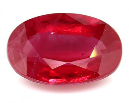 1.04 Carat Oval Ruby: Deep Rich Red