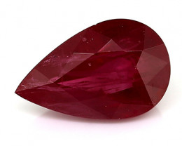 1.09 Carat Pear Shape Ruby: Rich Red