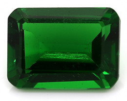 1.40 Carat Emerald Cut Zircon: Deep Rich Green