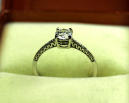 0.75 ct White Gold Engagement Ring Size 6.75