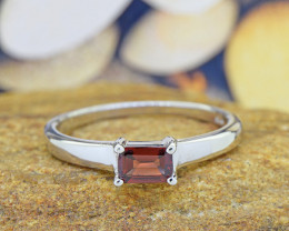 N/R Natural GARNET 925 Sterling Silver Ring Size 10 (SSR0548)
