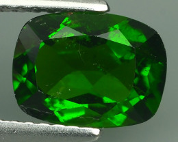 1.80 Cts MARVELOUS RARE  NATURAL TOP GREEN- CHROME DIOPSIDE DAZZL