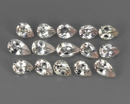 2.20 CTS BEUTIFUL PINK  NATURAL  MORGANITE BRAZIL PEAR PARCEL