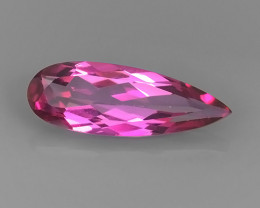 5.35 CTS WONDERFUL COLOR SWEET PINK COTED TOPAZ PEAR CUT NR!!
