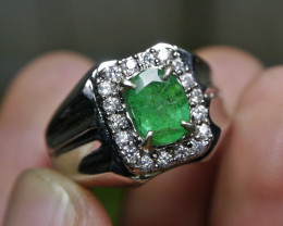 43.20 CT NATURAL ZAMBIAN EMERALD GEMSTONE JEWELRY RING