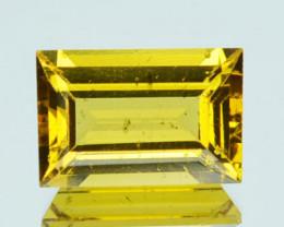 1.48 Cts Natural Golden Yellow Beryl 9x6mm Baguette Cut Brazil