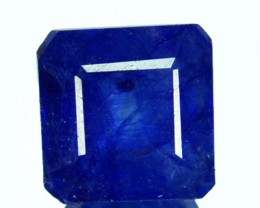 3.19 Cts Navy Blue Sapphire Composite 7.4mm Octagon Cut Madagascar