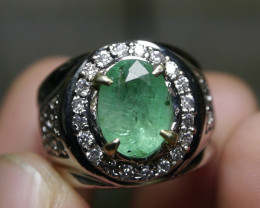 56.00 CT NATURAL ZAMBIAN EMERALD GEMSTONE JEWELRY RING