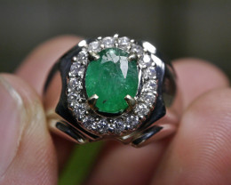 37.65 CT NATURAL ZAMBIAN EMERALD GEMSTONE JEWELRY RING