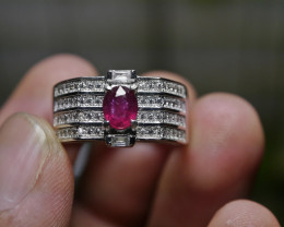 24.10 CT Pretty Natural Ruby Gemstone Ring Jewelry