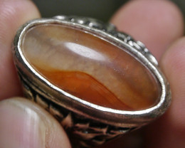 81.20 CT UNTREATED Indonesian Chalcedony Agate Jewelry Ring