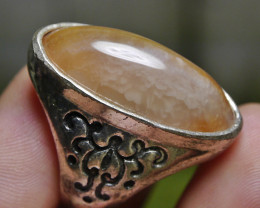 80.55 CT UNTREATED Indonesian Chalcedony Agate Jewelry Ring