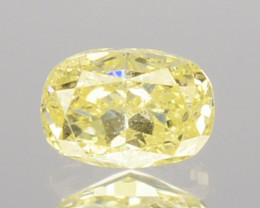 0.18 Cts Untreated Natural Diamond Fancy Yellow Oval Cut Africa