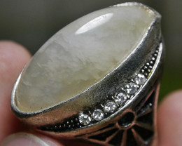 83.45 CT UNTREATED Indonesian Chalcedony Agate Jewelry Ring