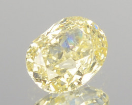 0.20 Cts Untreated Natural Diamond Fancy Yellow Oval Cut Africa