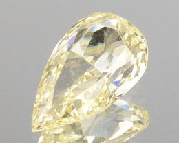 0.21 Cts Untreated Natural Diamond Fancy Yellow Pear Cut Africa