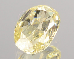 0.21 Cts Untreated Natural Diamond Fancy Yellow Oval Cut Africa